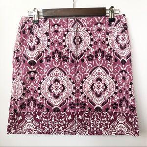 LOFT Skirts - Ann Taylor Loft Purple/Black Skirt • Size 4